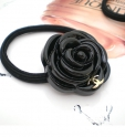 Резинка для волос Камелия Chanel черный