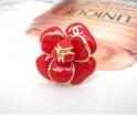 Кольцо Камелия Chanel красное